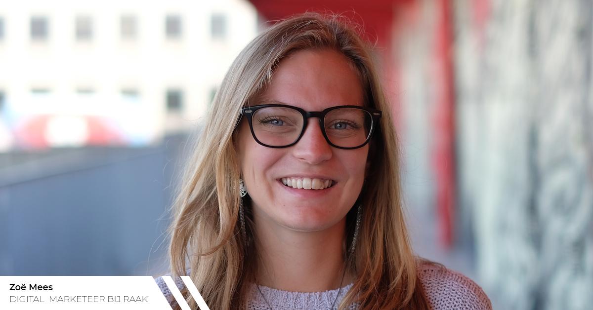 Zoë kreeg na 6 weken stage al een job als digital marketeer